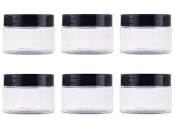 6PCS 120g/4oz Clear Plastic Leakproof Wide Mouth Bottle Jar