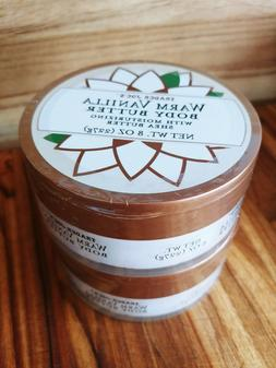 2 Jars TRADER JOE'S Warm Vanilla Body Butter 8 Oz ea. Season