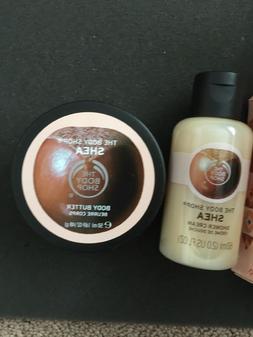 2 pc The Body Shop Shea Travel Set Body Butter 1.69oz  & Sho