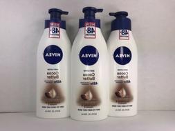 3 Nivea Body Lotion, Cocoa Butter, 48 Hr, w/ Deep Moisture S