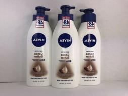 3 Nivea Body Lotion, Cocoa Butter, 48 Hr Deep Moisture Serum