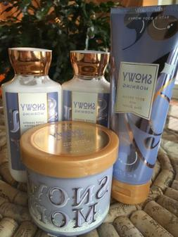4pc SNOWY MORNING  Bath and Body Works
