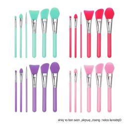 6pcs Silicone Makeup Brush <font><b>Set</b></font> Facial Ma