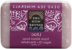 One With Nature Lilac Dead Sea Mineral Soap, 7 Ounce Bar
