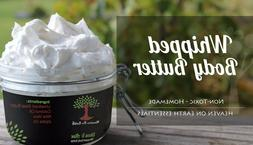 Organic Shea & Aloe WHIPPED Body Butter Scented & Unscented