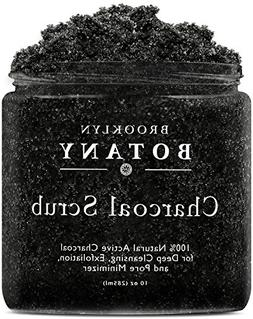 Premium Activated Charcoal Scrub 10 oz - For Deep Cleansing