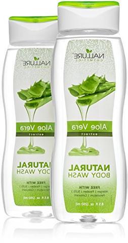 Natural Body Wash Aloe Vera Extract 8.5 fl.oz. Natural Formu