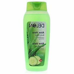 DELON Aloe Vera Men & Women Body Wash With Free Loofah 532ml