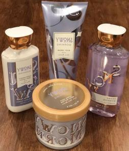 Bath and Body Works Snowy Morning Set Lotion Cream Shower Ge