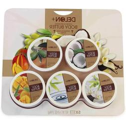 Delon Body Butter Butters, 5 x 196g - Coconut, Olive, Mango,