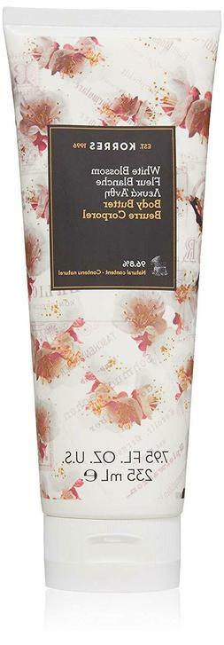 KORRES White Blossom Body Butter 7.95oz/235ml Full Size Seal