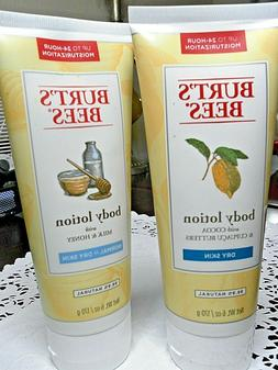 Burt's Bees 2 x 6 oz Body lotions: Milk &Honey  and Cocoa &