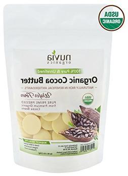Nuvia Organics Cocoa Butter - 100% USDA Certified Organic, R