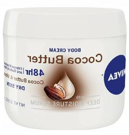 NIVEA Cocoa Butter Body Cream - 48 Hour Moisture For Dry Ski