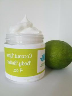 Coconut Lime Natural Whipped Body Butter with Shea, Cocoa Bu