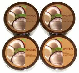 DELON Intense Moisturizing Coconut Body Butter 6.9 Oz 4-pack