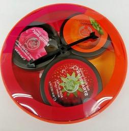 The Body Shop Dial-A-Flavour Body Butter Trio Spinner Strawb
