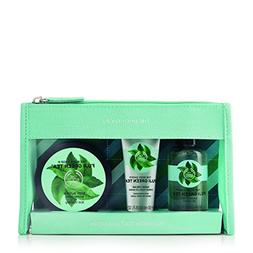 The Body Shop Fuji Green Tea Beauty Bag Gift Set, 3pc Bath a