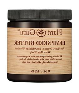 Hemp Seed Butter 8 oz. 100% Pure Raw Fresh Natural Cold Pres