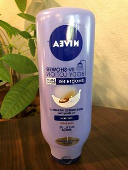 NIVEA In-Shower Smoothing Body Lotion for Dry Skin, Shea But