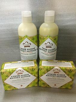Indian Hemp & Haitian Vetiver Soap, Lotion & Body Wash Set..