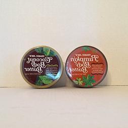 Trader Joe's Pumpkin Body Butter and Trader Joe's Coconut