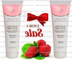 Body Kiss Flavored Massage Cream, 4 fl.oz , Strawberry