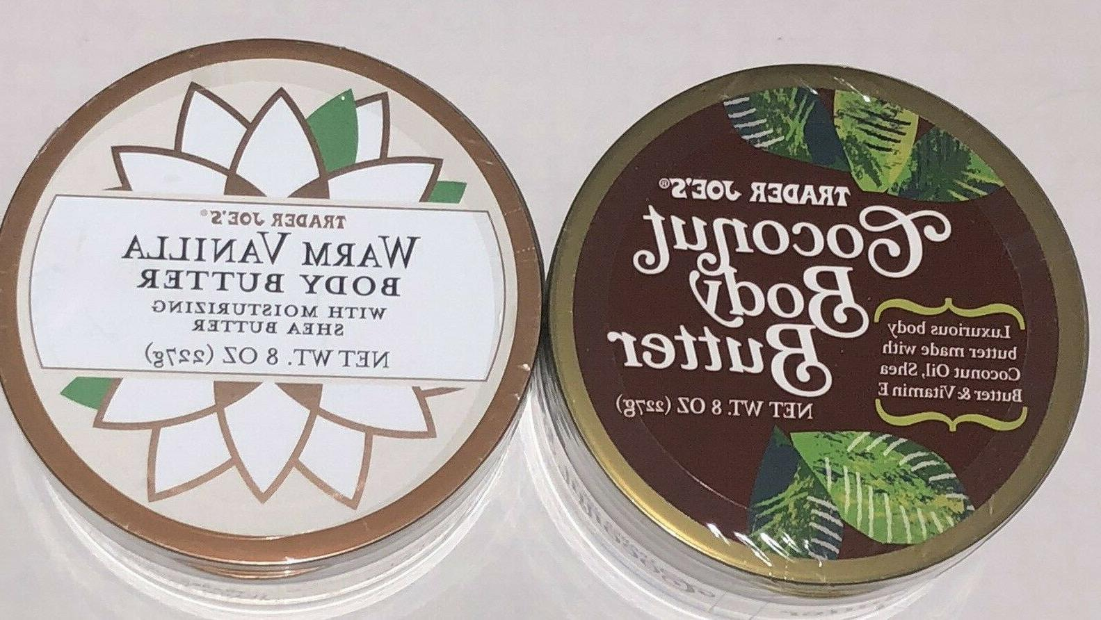 2x Trader Joe's @ Coconut Body Butter & Warm Vanilla@ 2x 227