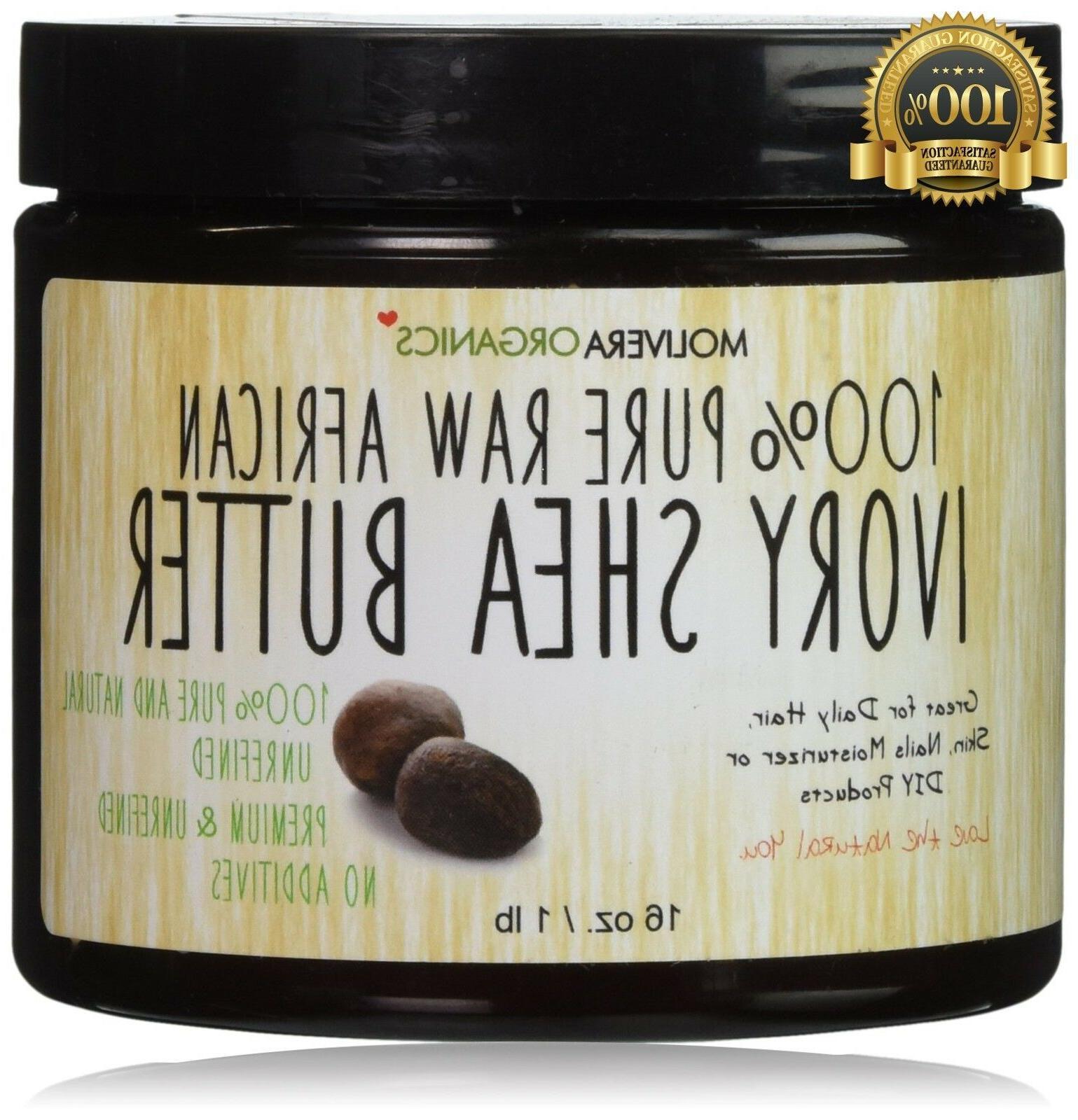 Molivera Organics Raw African Organic Grade A Ivory Shea But