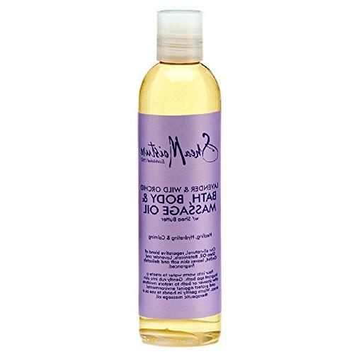 SheaMoisture Lavender/Wild Orchid Bath, Body & Massage Oil,