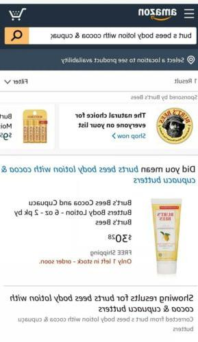 Burt's Bees Body Lotion With & Cupucau Butters 6oz Pack Of 3