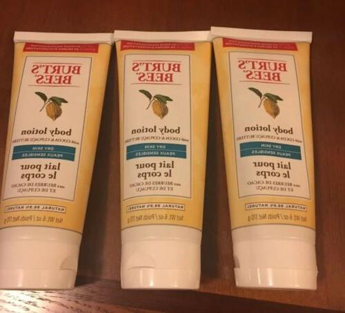 burts bees body lotion with cocoa