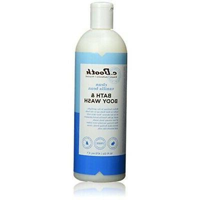 c.Booth Clean Vanilla Bean Bath & Body Wash, 16 Fluid Ounce