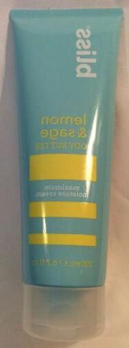 Bliss Lemon + Sage Body Butter Maximum Moisture Cream 6.7 oz
