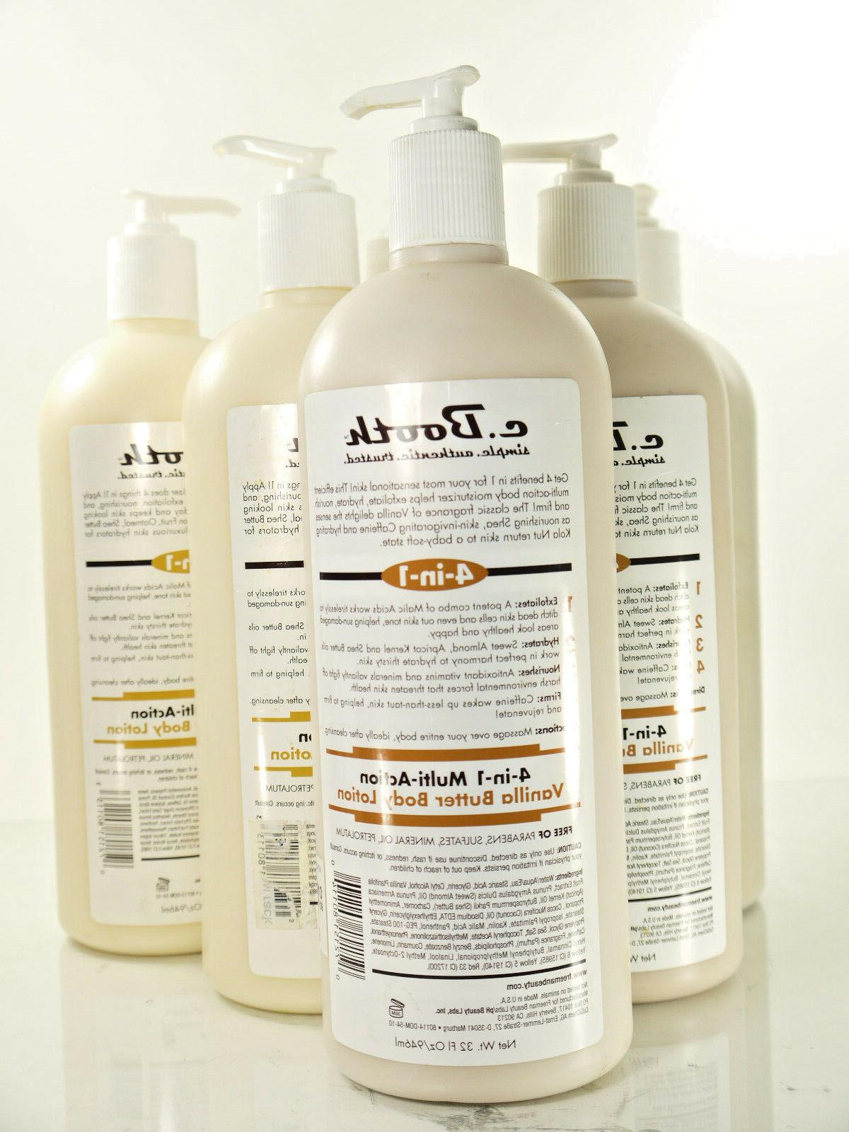 LOTS OF C. Booth 4-In-1 Multi-Action Body Lotion, Vanilla Bu