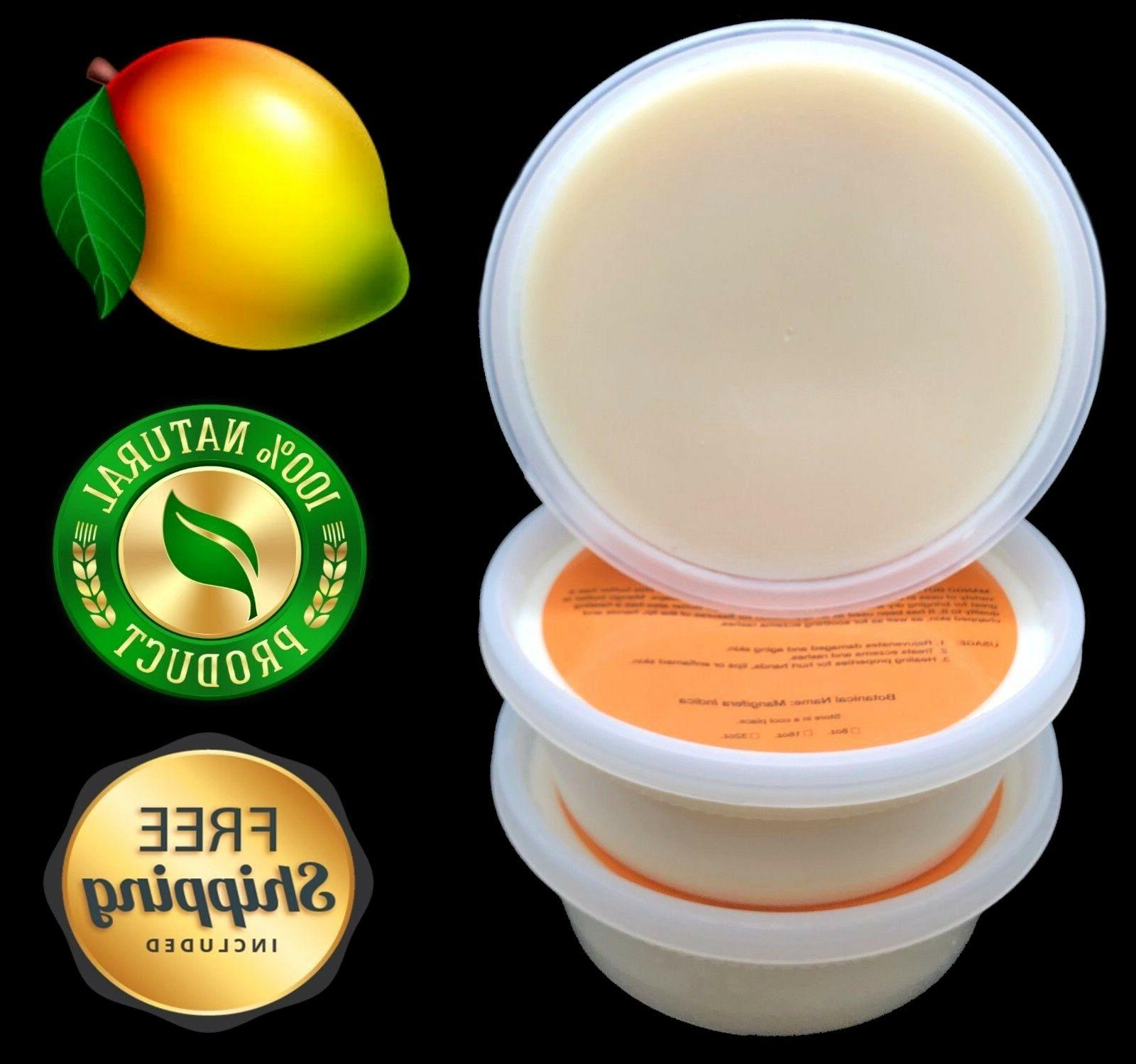 Mango Butter 8 oz. Pure Organic For Skin, Body, Hair