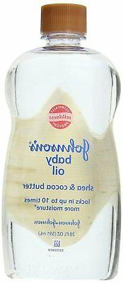 Johnson's Baby Oil Shea and Cocoa Butter, 20 Fl Oz