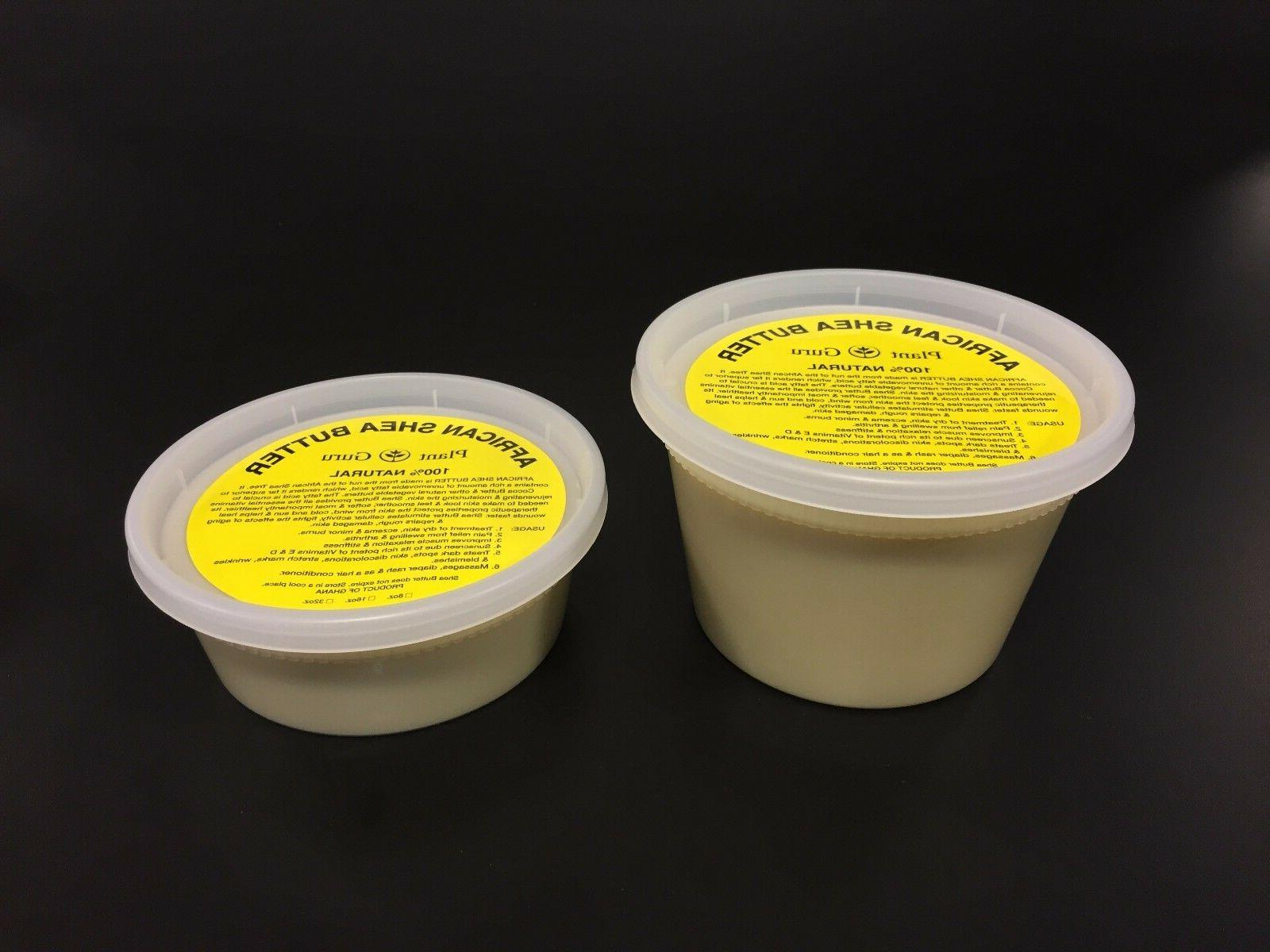 Raw African Shea Butter 8 oz Pure Unrefined Organic Ghana
