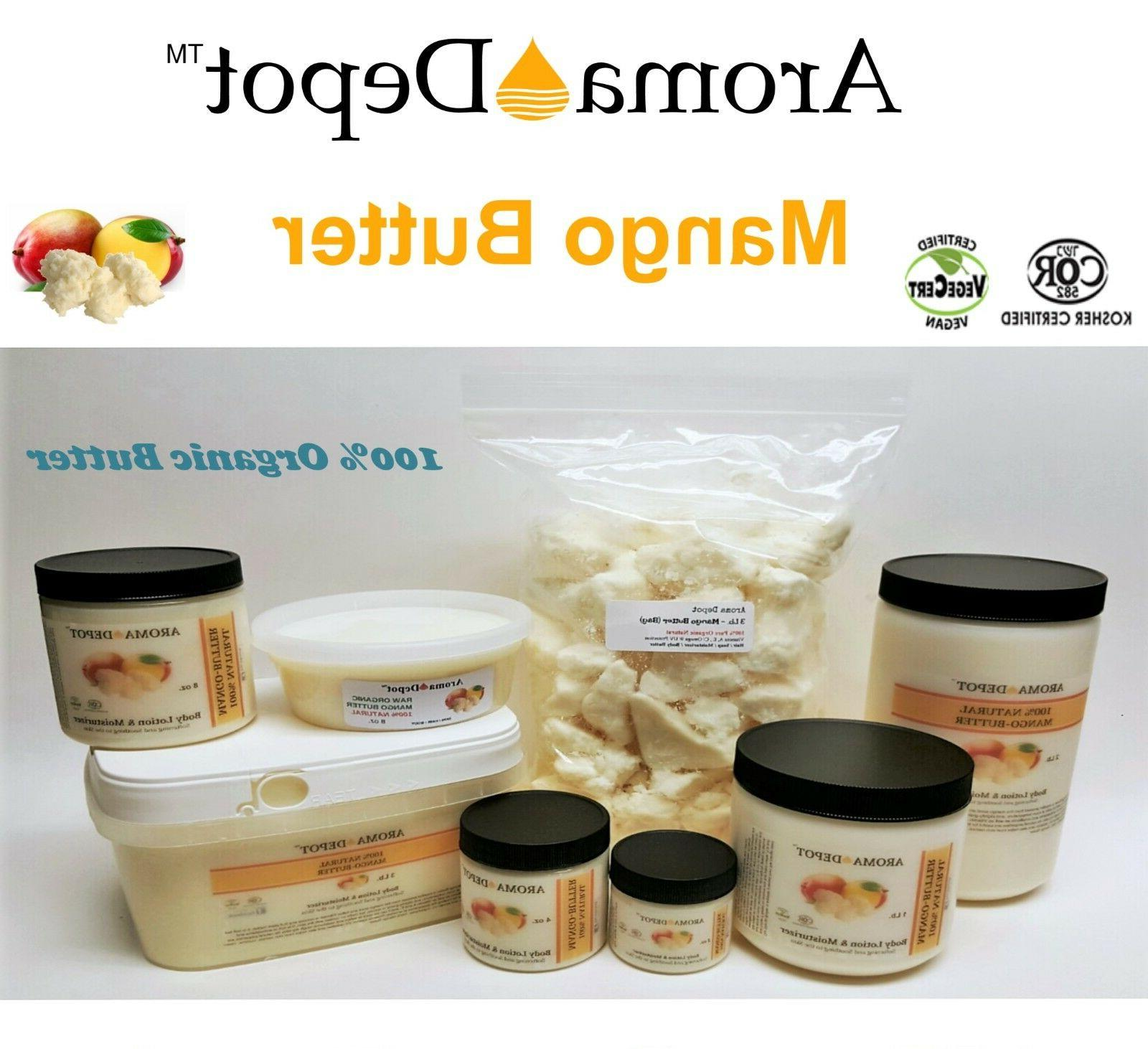 Raw Mango Butter Organic Natural Raw Top Body Hair