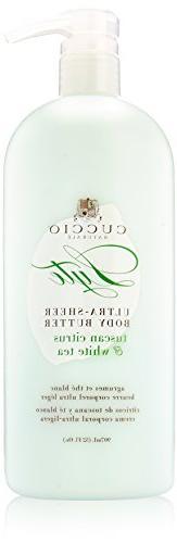 Cuccio Tuscan Citrus & White Tea Sheer Body Butter 32oz