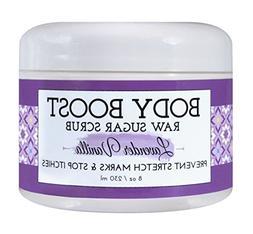 Body Boost Lavender Vanilla Raw Sugar Scrub 8 oz- Pregnancy