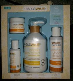 Raw Sugar Lemon Sugar 4 pc Gift Set ~ Body Wash, Hand Wash,