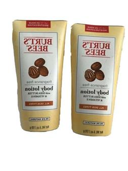 Lot 2 Burt's Bees Body Lotion Shea Butter and Vitamin E Frag