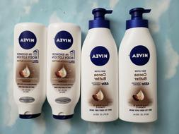 LOT NIVEA COCOA BUTTER BODY LOTION 16.9 OZ / IN-SHOWER BODY