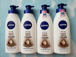 LOT NIVEA COCOA BUTTER DAILY BODY LOTION  DRY SKIN 16.9 FL O