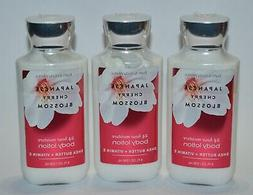 LOT OF 3 BATH & BODY WORKS JAPANESE CHERRY BLOSSOM LOTION CR