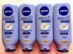 Lot of 4 Nivea In-Shower Body Lotion For Dry Skin With Shea