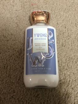 New! Bath & Body Works Snowy Morning 8 oz Super Smooth Body