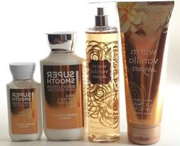 NEW BATH & BODY WORKS WARM VANILLA SUGAR MIST LOTION SHEA BU