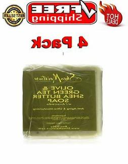 Shea Moisture Olive and Green Tea Shea Butter Soap, 8 Oz